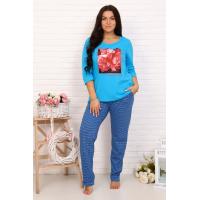Пижама 1058-П (брюки) (кулирка)